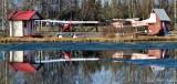 Floatplane on Lake Hood Seaplane Base Anchorage Alaska