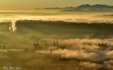 Harbor Island Cranes, West Seattle, Olympic Mountains, Washington
