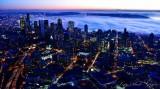 True Blue Seattle Skyline, South Lake Union Neighborhood, Sea of Fog, West Seattle, Sunset in Seattle