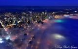 Wave of fog on Seattle Washington