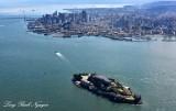 Alcatraz Island, San Francisco, Bay Bridge, San Francisco Bay, California