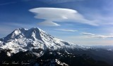 Standing Lenticular Formation over Mount Rainier National Park, Washington State