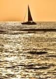 Sunset Sailing Pauoa Bay, Big Island, Hawaii