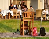 Waiting for Musician, Browns at Fairmont Orchid, Big Island, Hawaii
