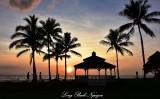 Family Enjoying Sunset, Big Island, Hawaii
