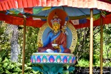 Religious Icon at Paleaku Gardens Peace Sanctuary, Captain Cook, Big Island, Hawaii