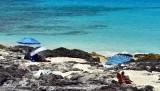 Relaxing at Manini'owali Beach, Kailua-Kona, Big Island, Hawaii