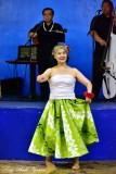 Japanese Hula Performer at Merrie Monarch 2015, Hilo, Hawaii