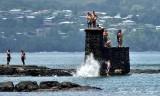Waiting to Jump, Hilo Hawaii