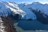 Portage Glacier, Carpathian Peak, Byron Peak, Portage Lake, Kenai Mountain, Alaska