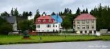 Houses around Reykjavik Iceland
