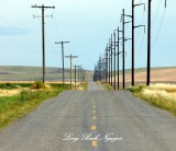 Endless Road and Power Lines, Idaho 005