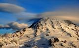 Bonnet Cap Cloud and Standing Lenticular on Mount Rainier US National Park Washington 194