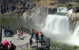 Visitors at Shoshone Falls and Park Snake River Twin Falls Idaho 215