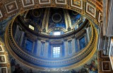 Dome in St Peters Basilica The Vatican Rome Italy 364