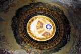 Eagles and Star on Dome St Peters Basilica Rome Italy 403