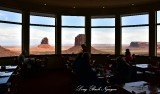 The View of Monument Valley from Hotel Dining Area  Arizona 633