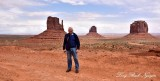 Charlie in front The Mitten Butte and Merrick Butte Monument Valley 647