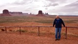 Charlie at Artists Point with Monument Valley Navajo Tribal Park Arizona 876