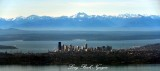 Seattle Sklyine with Puget Sound and The Olympic Mountain Range Washington 151