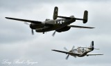 B-25 Mitchell Bomber and P-51 Mustang Boeing Field Seattle 067