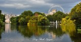Government Buildings and London Eye from of St Jamess Park London 261