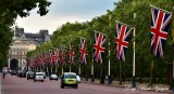 Flags on The Mall and Admiralty Arch London 296