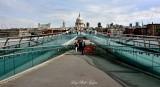 Millennium Bridge St Pauls Cathedral  Thames River London 088