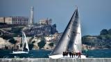 Sailing Crew with Alcatraz Island California 470