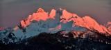 Pink Sunset on Three Fingers Mountain Washington 160