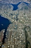 Seattle Metro Area, Interstate 5 and Highway 99, Stadiums, Space Needle, Lake Union and Ship Canal 074