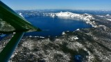 Quest Kodiak over Crater Lake and Wizard Island, Cascade Mountain Range Oregon 521