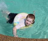 Neighbor's swimming