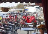 The deck of the Fleur: the bikes await