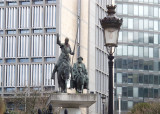 Off to Brussels: Statue of Don Quixote/Sancho Panza