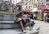 Charles Buls, 19th century mayor of Brussels, and his dog