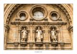 Concatedral de Santo Domingo de la Calzada. Estatuas de los patronos de la diócesis, Santo Domingo, San Celedonio y San Emeterio