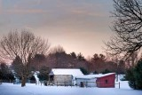 Cold Winter Evening on the Farm