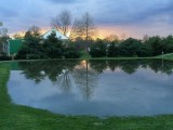 Farm Sunset & Reflection - Post-Rain