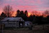 January Sunset on the Farm