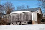 Hillside Barn in Snow