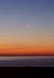 luna all'alba