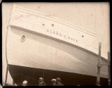 Clara C. Raye in the Essex shipyards