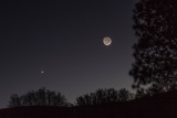 2 Day Old Moon and Evening Partner, Venus