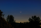 29 Day Old Moon and Mercury