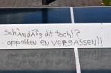 Anti semitic ping pong table at deutsche bank/ing buildings