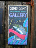 Gallery sign to Ray Troll's work in Ketchikan