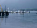 Fog rises over Petersburg fishing  fleet