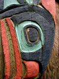 Closeup of Totem Carving