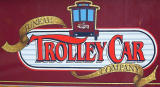 Closeup of Trolley Car sign
